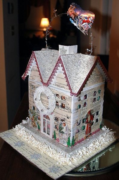 1000 Images About Christmas Papier Mache House Ideas On