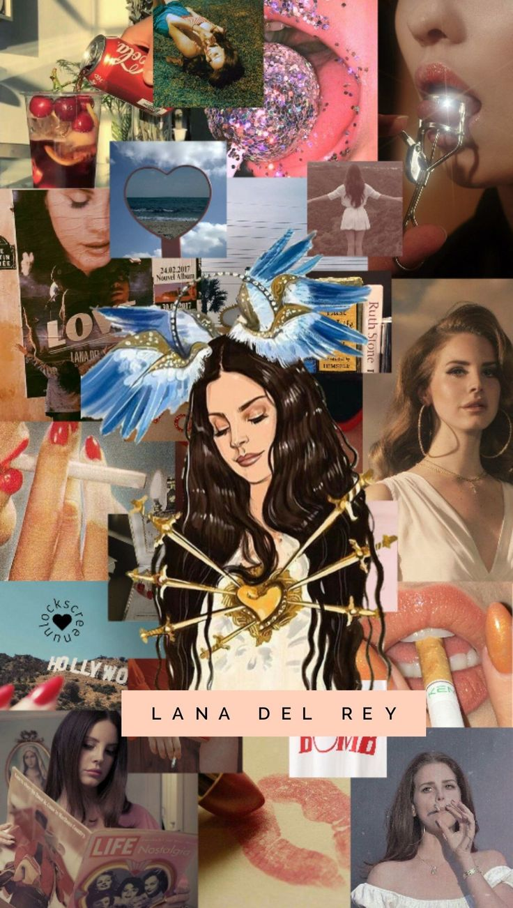 Lana Del Rey wallpaper Lana Del Rey iphone picsart black