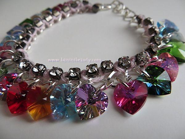 Swarovski Heart Charm Bracelet