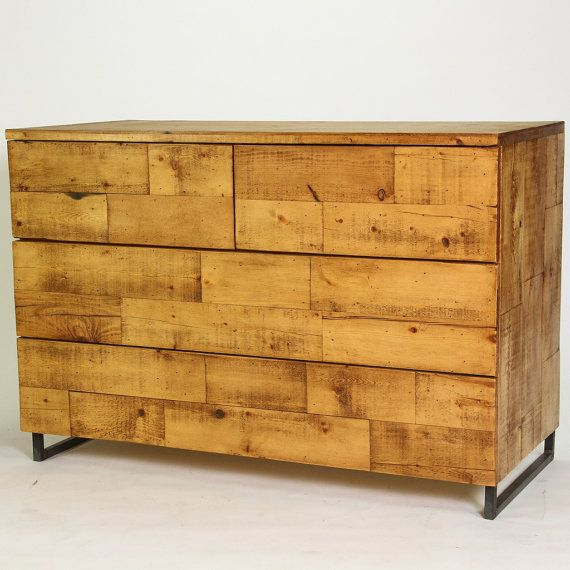 modern reclaimed wood dresser touch release drawers