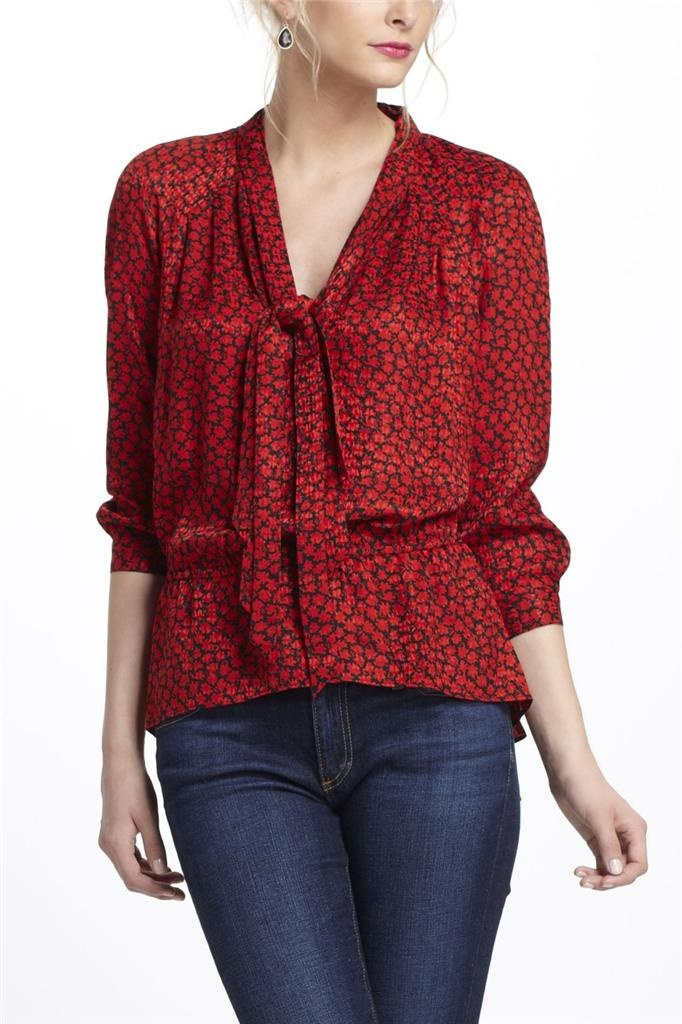 Fire-Bloom Silk Blouse for work - 769 Best Anthropologie Tops, Sweaters, Jackets Images On Pinterest
