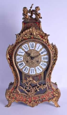 A LATE 19TH CENTURY FRENCH BOULLE WORK BRACKET CLOCK