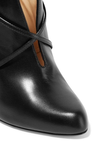 Christian Louboutin - S.i.t. Rain 100 Leather Ankle Boots - Black