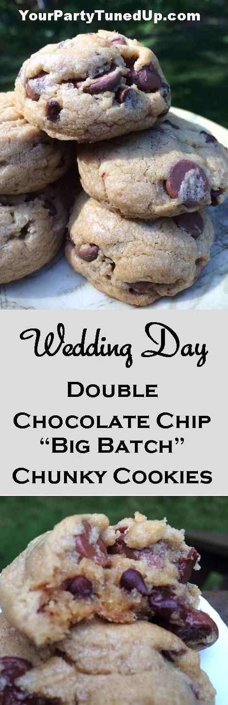 These amazing cookies are what I chose to bake for the wedding Hotel Welcome Bags for my daughter's wedding. Everyone was asking, who made the cookies?! They are chunky, buttery and full of flavor -- and always come out right!