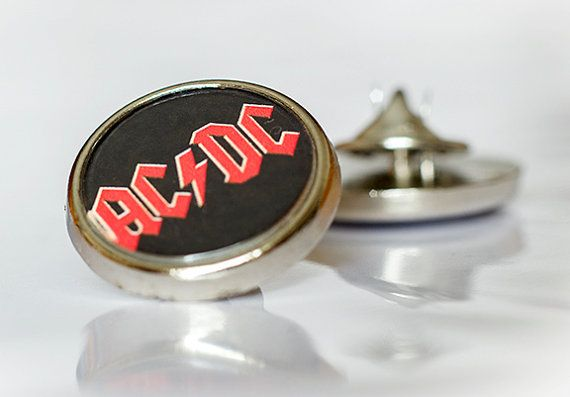 Cool ACDC Round Lapel pin/ pin badge by WeeHings on Etsy