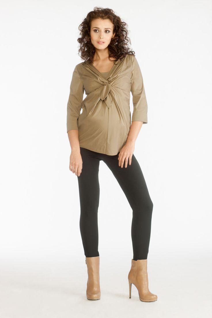 Elize shirt sepia adn Baco trousers black