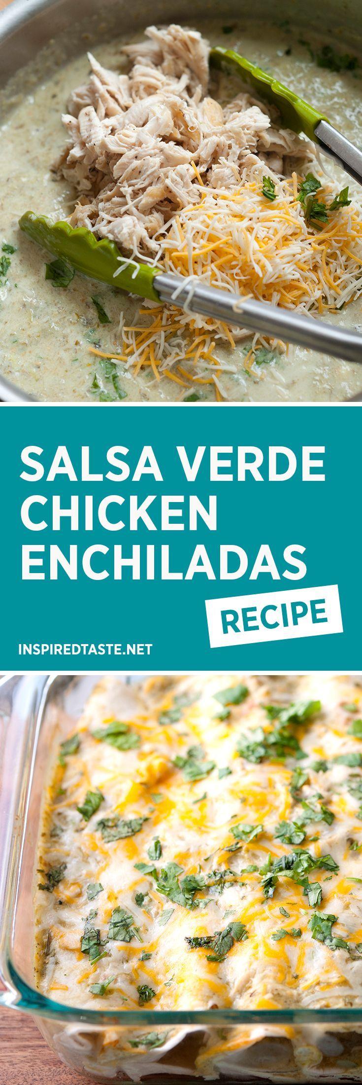 ... Chicken Enchiladas Verde, Enchiladas and Rotisserie Chicken Enchiladas