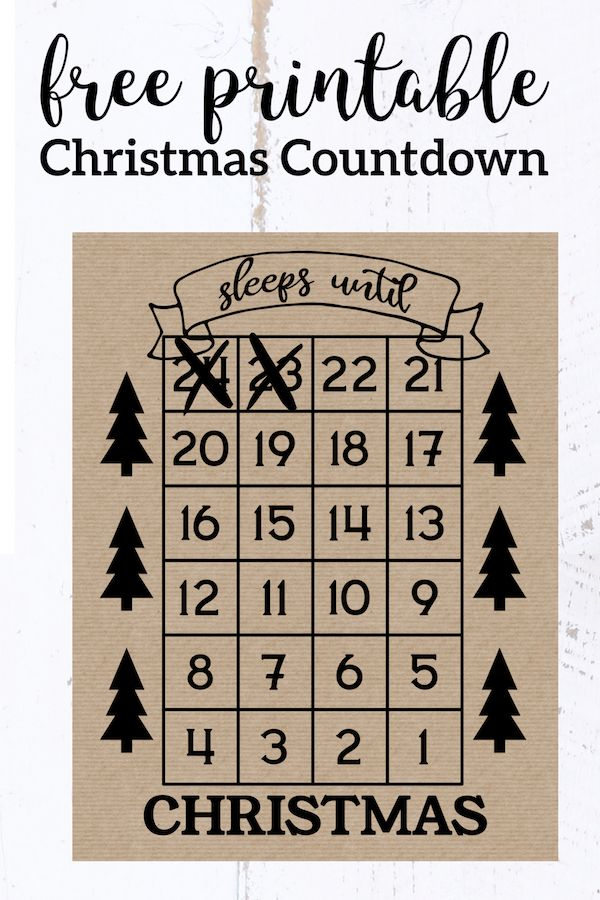 How Many Days Until Christmas Free Printable Paper Trail Design Free Christmas Printables Mason Jar Diy Sleeps Until Christmas