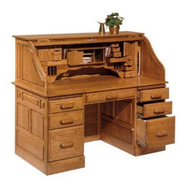 haugen americana oak deluxe roll top desk writing desks at hayneedle - Rolltop Desk