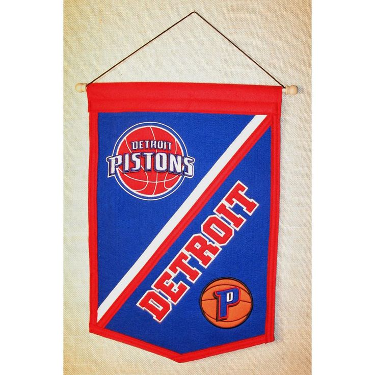 Detroit Pistons NBA Traditions Banner (12x18)