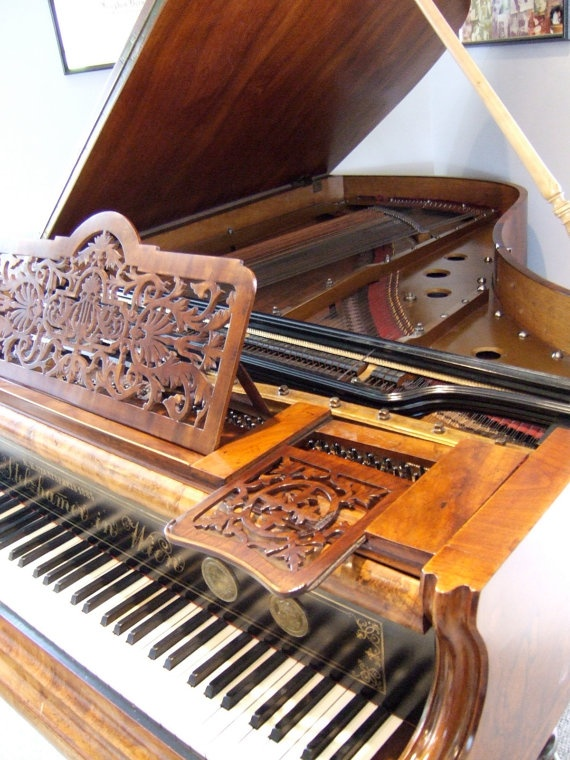Antique Baby Grand Piano Built In Vienna By