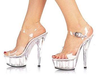 VIP 6 pulgadas a mano borra todo tobillo correa de tacón alto plataforma Stripper mujer zapatos (disponible en otros fondos del alto talón!)