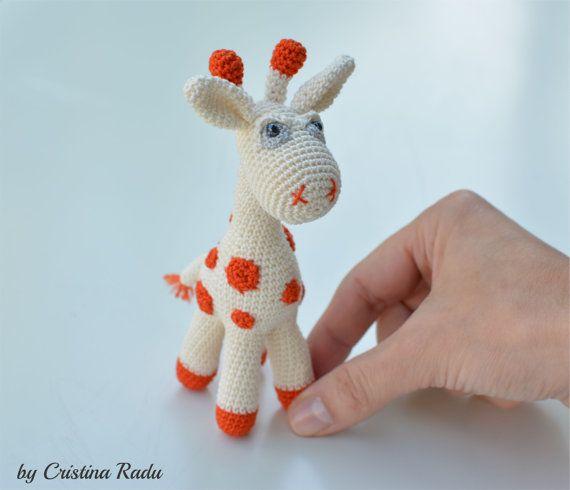 Giraffe toy crochet giraffe Christmas gift by cutetoysbycristina