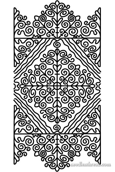 Hungarian folk embroidery pattern - This site has many free patterns!