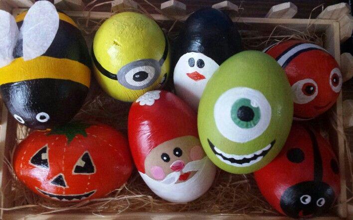 Mike Wazowski Egg Hand Painted Monsters Inc Easter Egg