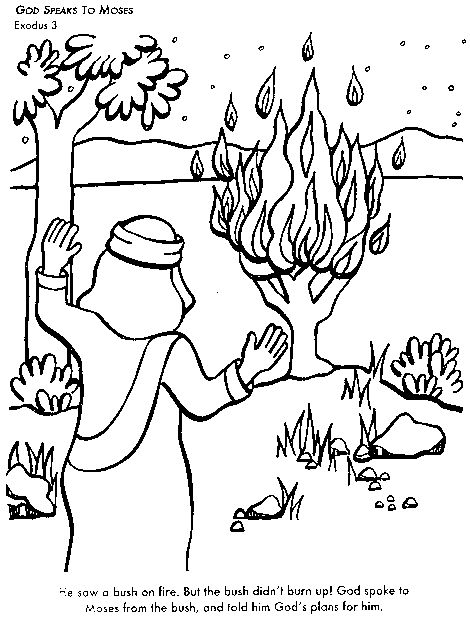 God Speaks To Moses Bible Coloring Page For Kids Learn Stories