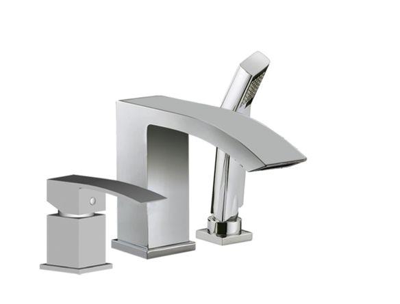 Robinet de bain avec levier lat ral et douchette main for Robinet salle de bain home depot