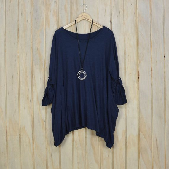 New Ladies COTTON Oversized Floaty Top Tunic by LaneysLagenlook