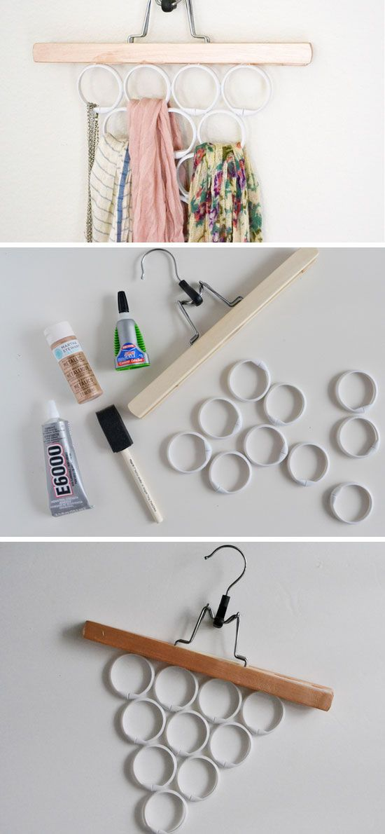 Make A Scarf and Accessory Hanger | 20 DIY Closet Organization Ideas for The Home | DIY Closet Storage Ideas for Small Spaces