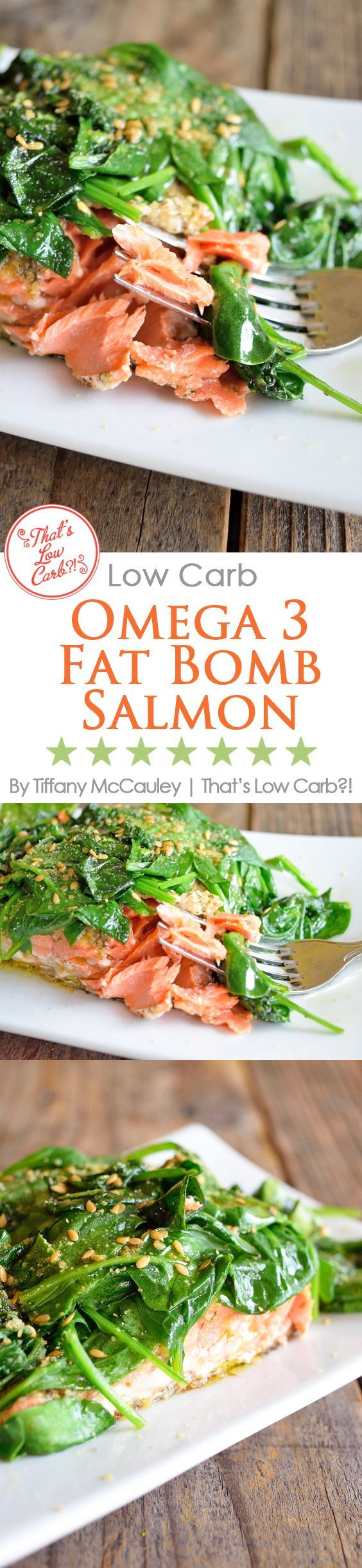 Low Carb Recipes | Omega 3 Fat Bomb Salmon Recipe | Salmon Recipes | Dinner Recipes