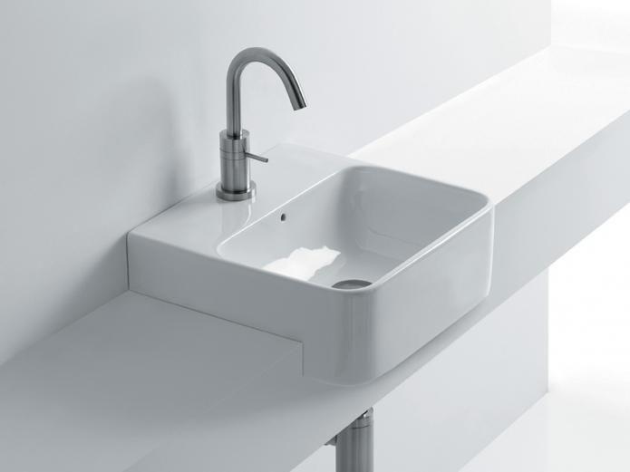 Ensuite Reece Axa Sheer 450 Semi Recessed Basin 450 X