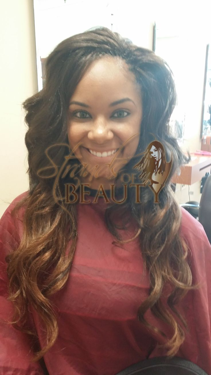 Tree Braids Ombre Effect by Strands of Beauty with Body Wave Hair