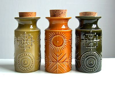 Potshots: Vintage storage jars from the 1960s.