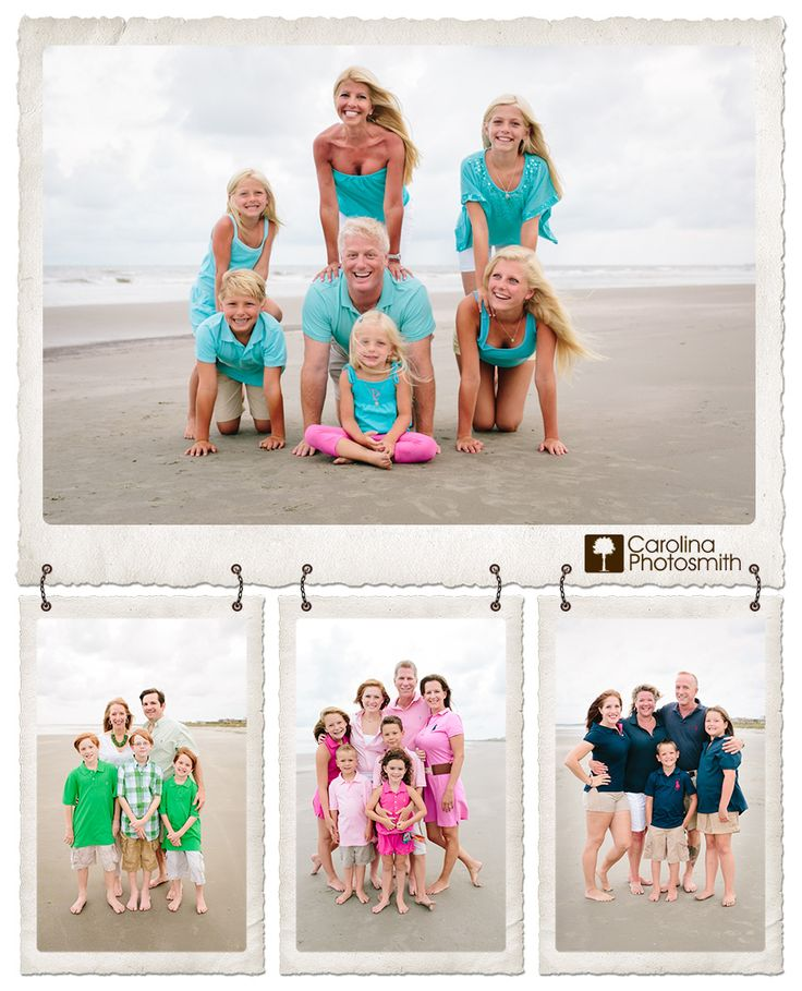 Embrace Color for the Best Beach Photography.  Great family pictures!