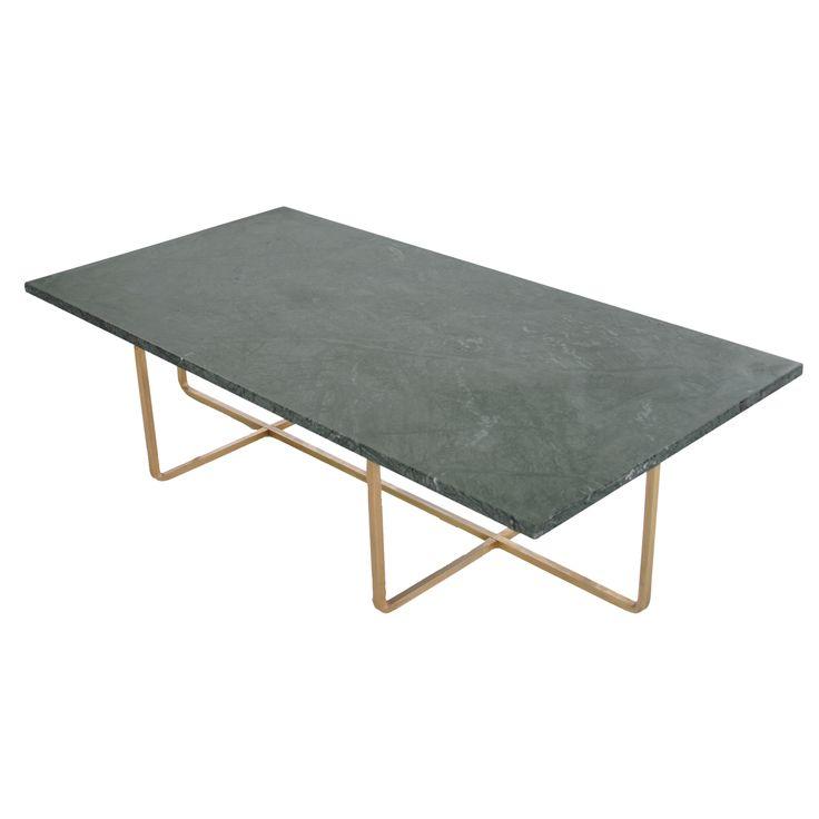 Ninety sofabord 120x60x40, grøn marmor/messing i gruppen Møbler / Bord / Sofabord hos ROOM21.dk (130028)