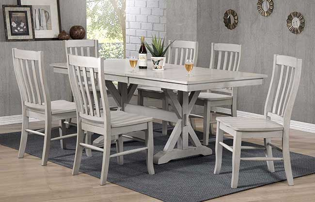 Winners Only Carmel In Grey Dining Collection Dining Table