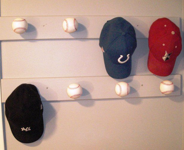 baseball table rip piece wood wall hat rack caps mounted racks for