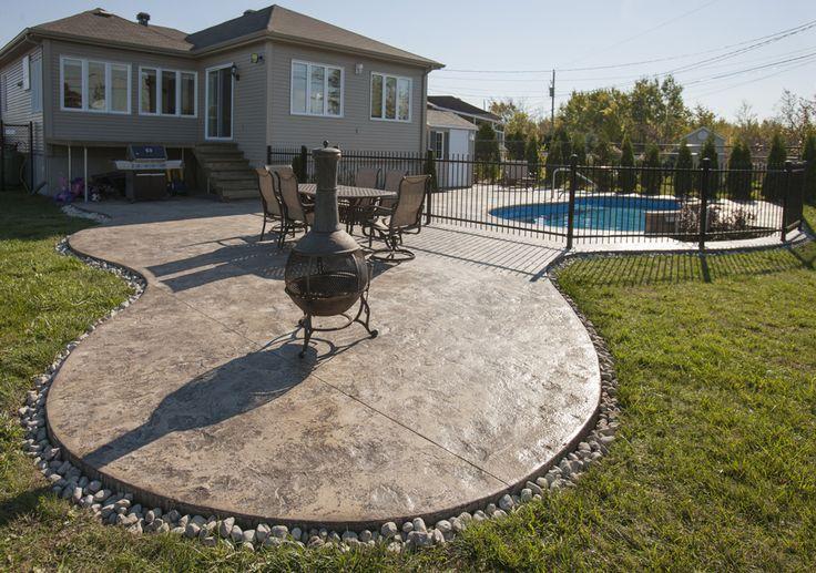 Dalle De Bois Pour Patio : Dalle pour feu et piscine patio design Pinterest