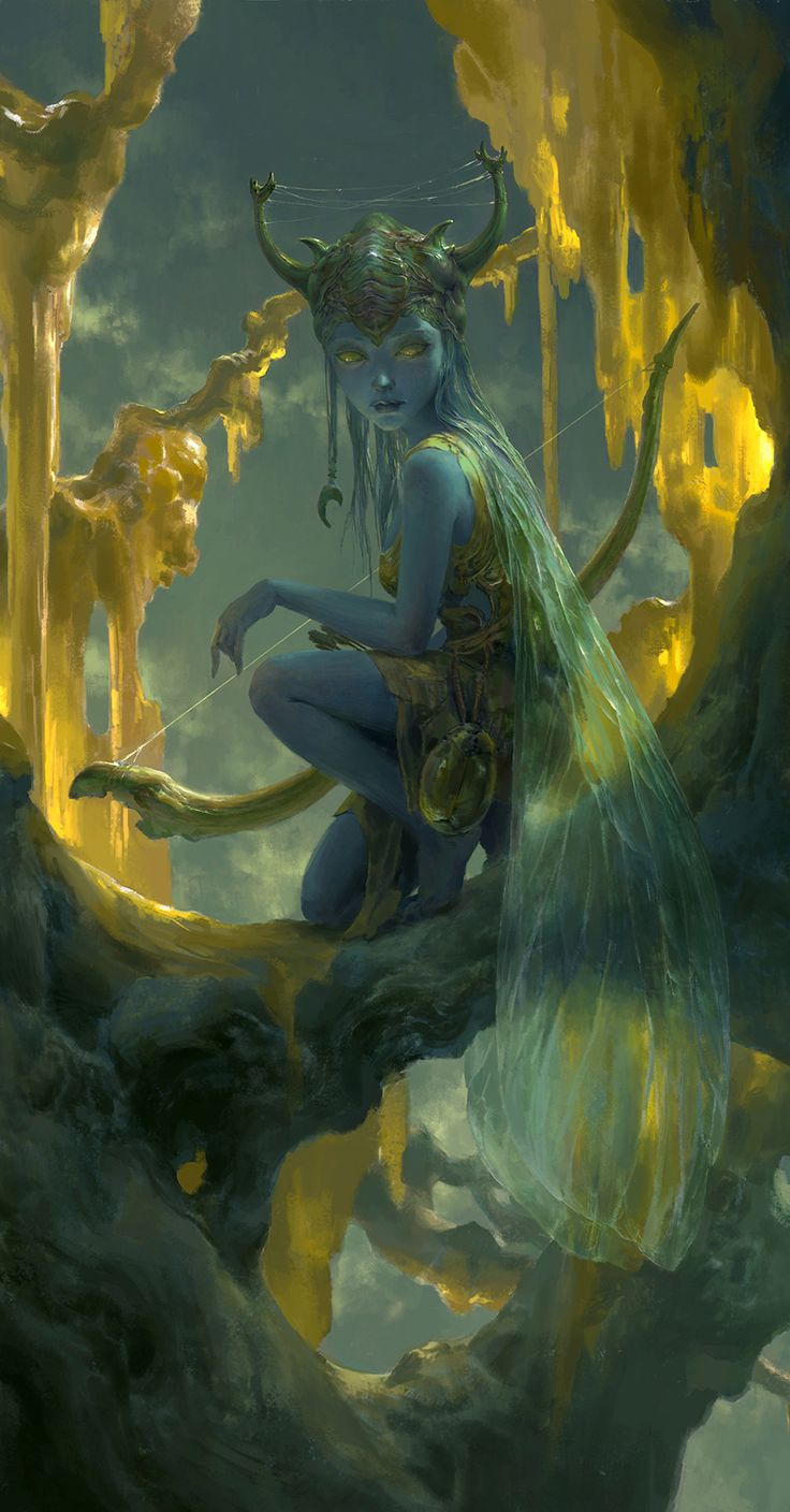 """Fairy cave"" by Tianhia Xu (flowerzzxu) on DeviantArt (detail).                                                                                                                                                     More"