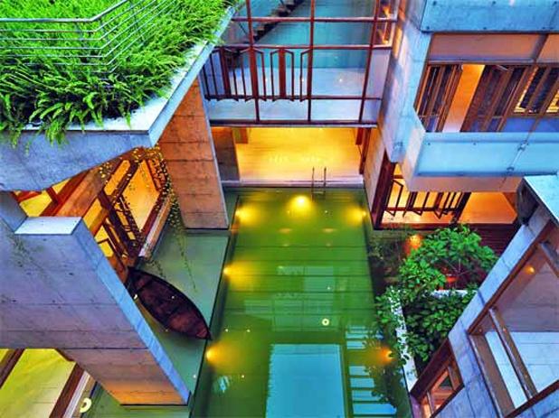 Courtyard Pool S A Residence Dhaka Bangladesh