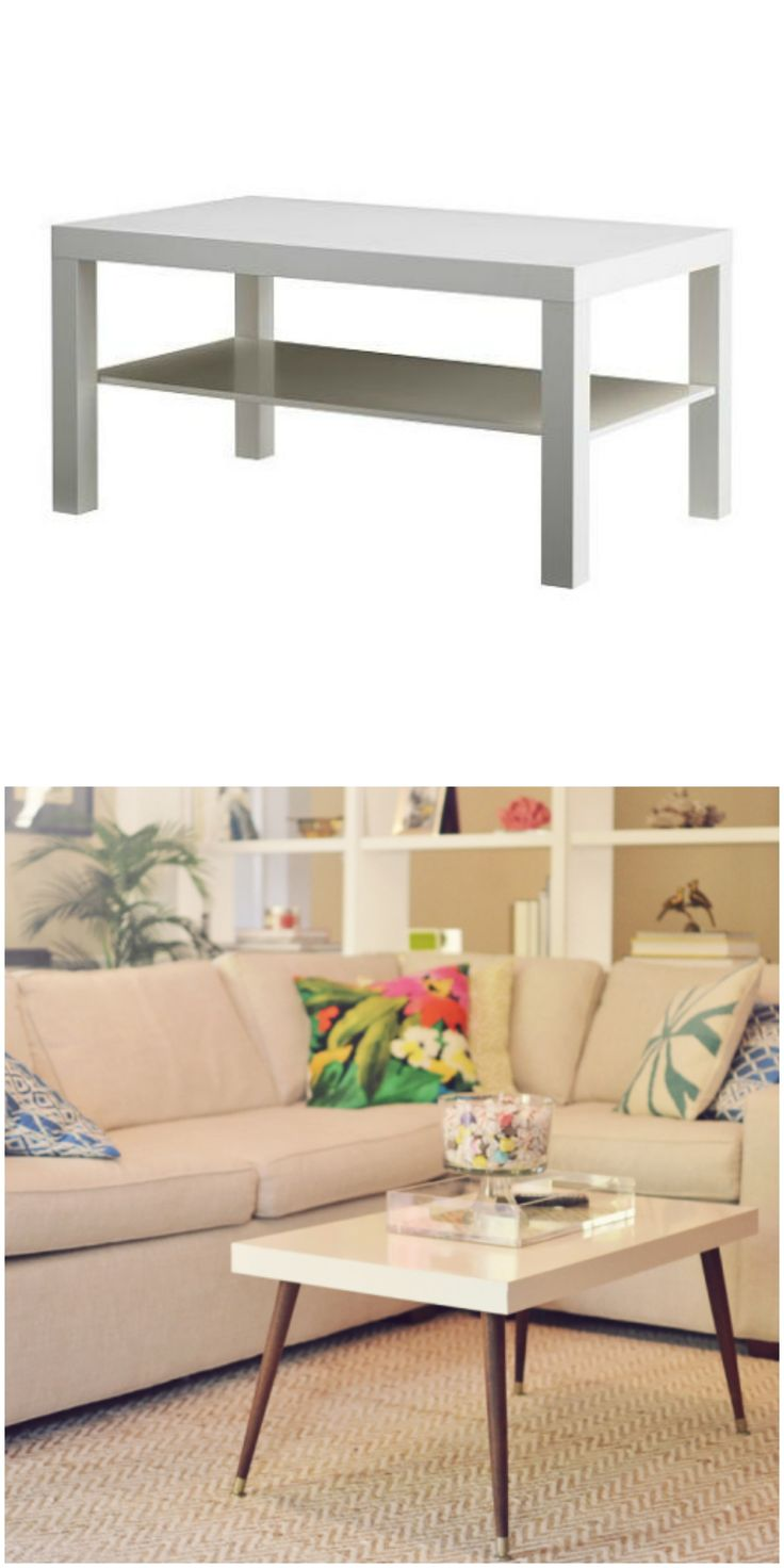 A modern Lack coffee table gets a mid-century twist in this IKEA hack!