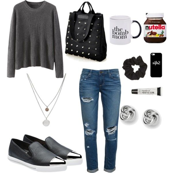 mommy mondays by karina-araya on Polyvore featuring polyvore fashion style Paige Denim Miu Miu Black Rivet Kenneth Cole FOSSIL Casetify Topshop Torrid ASOS