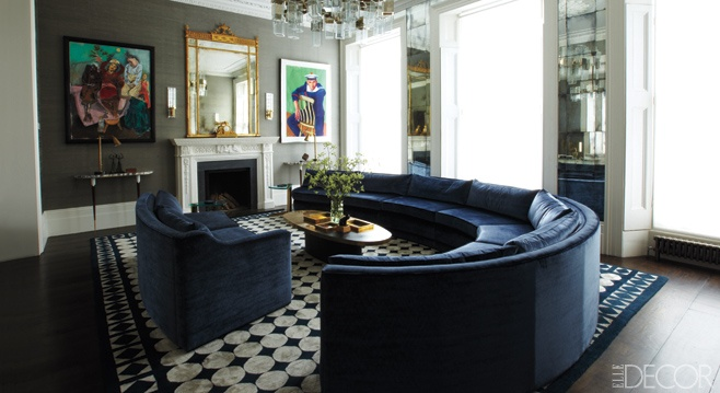 """modern, masculine glamour"" from Elle Decor"