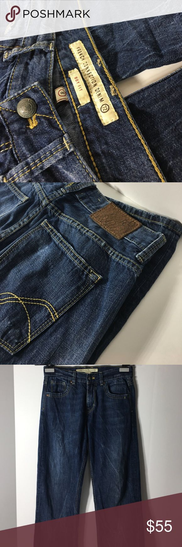 "French Connection Denim 72 Boy Fit - Size 8 100% Cotton.  Made in Turkey.  Approx measurements (Flat): Waist 14"".  Length 41"".  Please ask questions before purchasing.  Used Condition.  See pictures for virtual information.  Thank you for shopping by my closet.  Sparkles ✨ and Happy Poshing!  📌Only Fair Offers Considered French Connection Jeans"