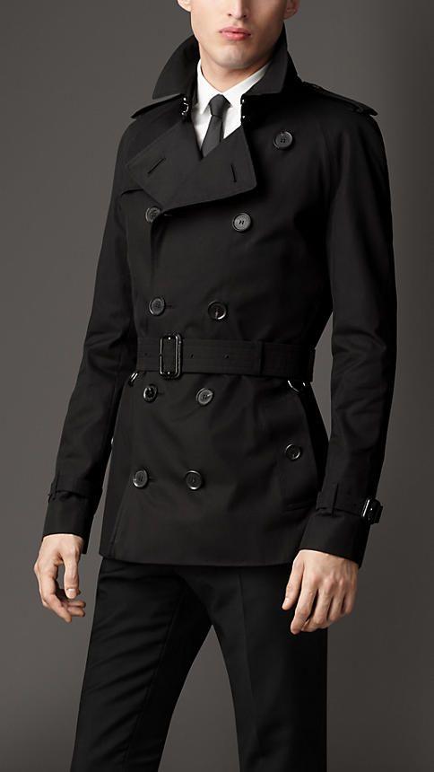 Short Cotton Gabardine Trench Coat | Burberry