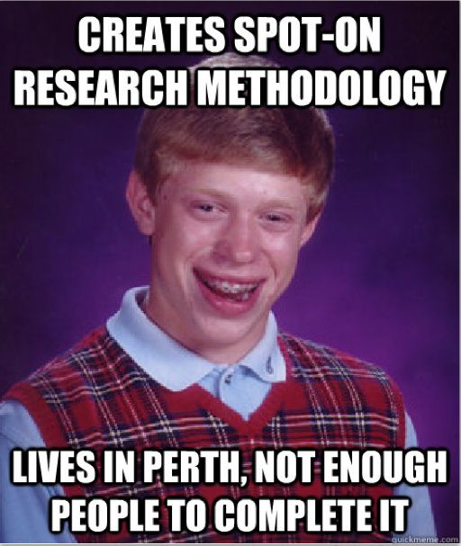 From an international perspective, Perth's relatively small population limits primary research plans for local projects, which is difficult to adjust to after working in big cities like London.