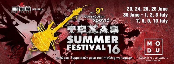 Η HIGH VOLTAGE παρουσιάζει το TEXAS SUMMER FESTIVAL 2016