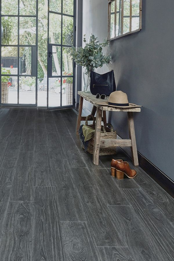 Parquetvinyl Victoria Black Plank Luxury Click Vinyl Flooring Dark Grey Laminate Flooring Grey Laminate Flooring Vinyl Flooring