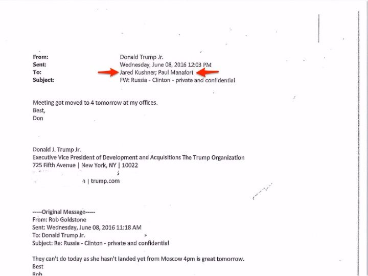 Donald Trump Jr.'s emails raise a big question about Jared Kushner and Paul Manafort - On Tuesday, Donald Trump Jr. published whathe said is the full email chain between himself and Rob Goldstone, the music publicist who arranged a June 2016 meeting among Trump Jr., his brother-in-law Jared Kushner, then-Trump campaign manager Paul Manafort, anda Russian attorney with ties to the Kremlin.  Butthe correspondence also raises new questions about past statements Trump Jr. made about the…
