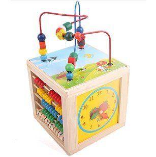 Cub educativ multifunctional 5 in 1 Natur