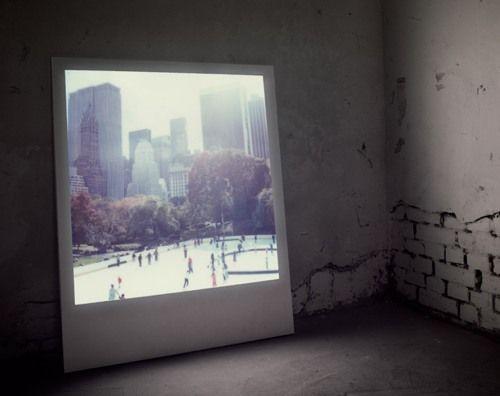 need this: Ideas, Polaroid Pictures, Trav'Lin Lights, Giant Polaroid, Art, Polaroid Frame, Photo, Polaboy, Wooden Frames