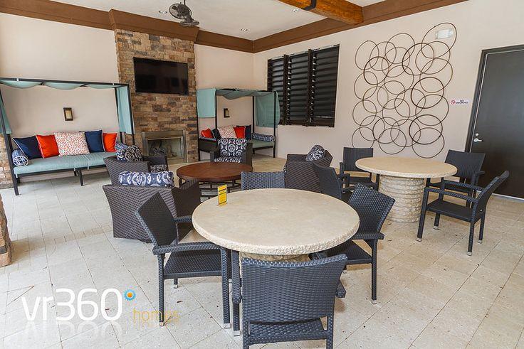 Solterra Resort, Davenport, Florida - Clubhouse Outside Lounge Area. http://www.vr360homes.com/north-america/florida/disney-orlando-villas/solterra-resort/