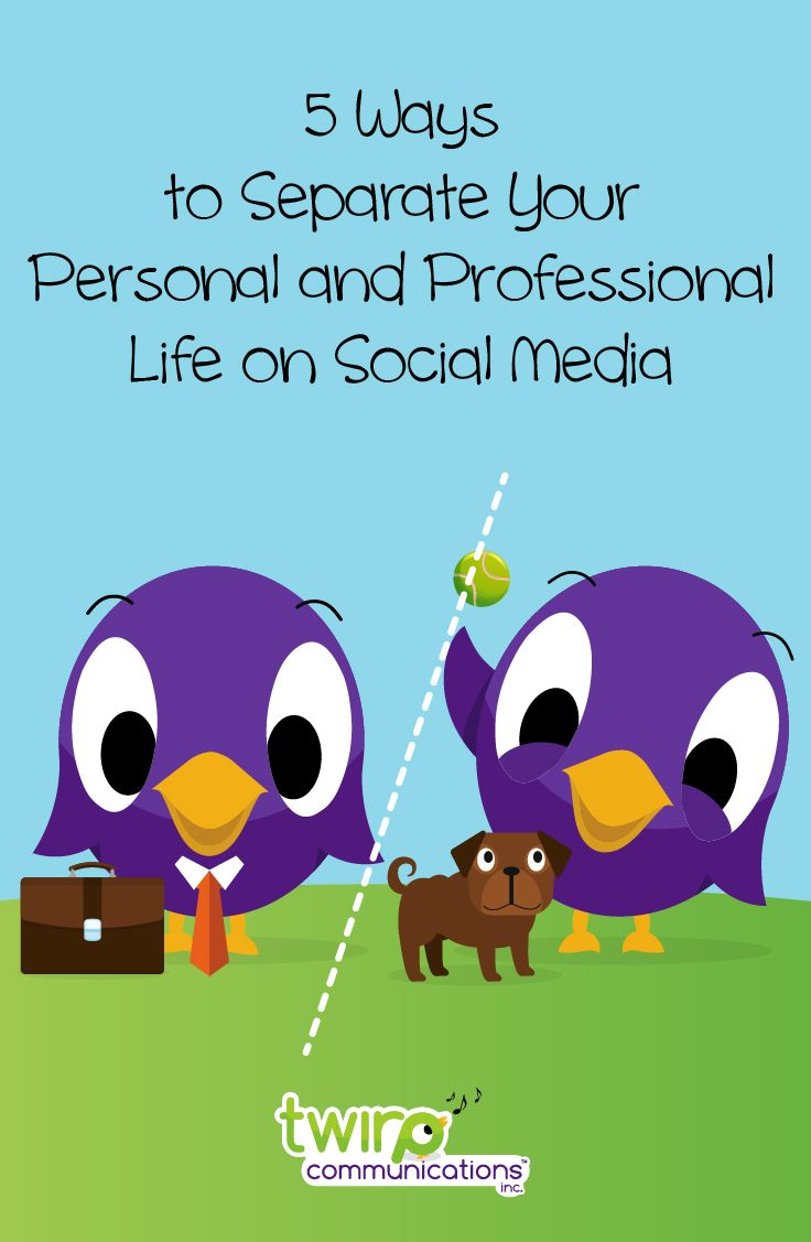 """A question new-to-social-media-entrepreneurs often ask is """"How do I keep my personal life separate from my business life?"""" They usually understand the need to provide some personal content, but often wonder just how much personal content is still professional, and how to keep global customers out of their very personal life. Some people opt to simply not use social media personally, but many entrepreneurs do want to keep in touch with family and friends at a personal level on Facebook."""