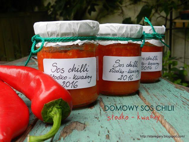 Stare Gary: Domowy sos  chili, słodko - kwaśny