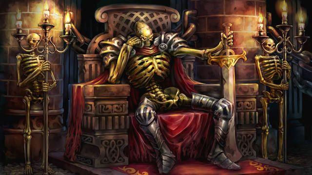 Lord of the Undead Swordsmen, Akira Murakami  Ack! It's King Leoric, the Skeleton King!!!