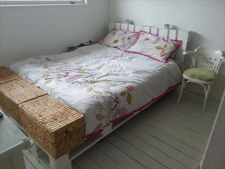 42 DIY Recycled Pallet #Bed Frame Designs   101 #Pallet #Ideas - Part 2